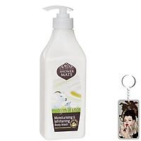 Sữa tắm dê Showermate Moisturizing & Whitening sáng da Hàn Quốc 550ml + Kèm móc khoá