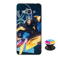 Ốp lưng nhựa dẻo dành cho Samsung J3 Pro in hình Nakroth Siêu Việt Bậc V - Tặng Popsocket in logo iCase - Hàng Chính Hãng