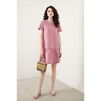 Váy mini đuôi cá cotton basic hồng đỗ