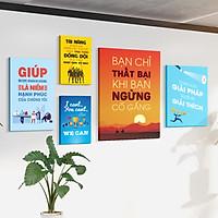 Bộ 5 tranh slogan canvas tạo động lực [trang trí văn phòng] vcb-b