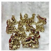 Bộ tượng 12 con giáp si vàng