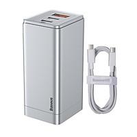 Củ Sạc Baseus GaN2 Pro Charging Charger C+C+A 65W Charging Set (Kèm cáp sạc C to C 100W) - Hàng Chính Hãng