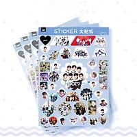 Set 4 tệp hình dán trang trí sticker Got7