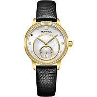 Đồng hồ nữ mặt xà cừ đính đá sang trọng chính hãng Thụy Sĩ TOPHILL TE036L.NB2237