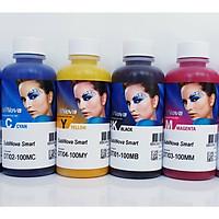 Bộ 4 màu mực in Epson - Mực nhiệt Inktec - Loại 100ml/màu - Mực in chuyển nhiệt Hàng chính hãng