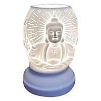 Đèn Xông Tinh Dầu Gốm Hình Phật Dáng Xoài AH33 (Size L) + Tặng Kèm 1 Bóng Đèn