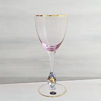 Bộ 6 ly pha lê uống rượu vang 300 ml 6 màu Tiệp Khắc