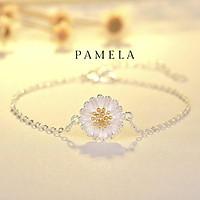 Lắc tay Vòng tay nữ bạc 925 mặt hoa cúc nhỏ Pamela phụ kiện trang sức