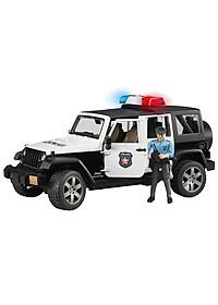 Xe Cảnh Sát Jeep Wranger Rubicon Bruder BRU02526
