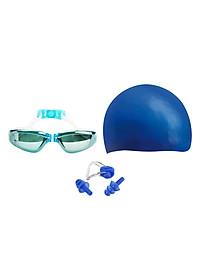 Combo Kính Bơi, Mũ Bơi, Bịt Tai Kẹp Mũi POPO Sport Set2360-Blue - Xanh Dương-0