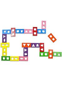 Đồ Chơi Gỗ Tottosi Domino Hình Học 502014