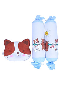 Bộ Gối Cho Bé BabyTop Hình Mèo Con - Họa Tiết Ngẫu Nhiên