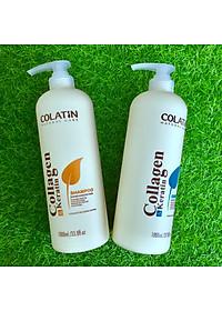 Bộ dầu gội xả dưỡng chất tơ tằm Collagen COLATIN Shampoo & Conditioner 1000ml-2