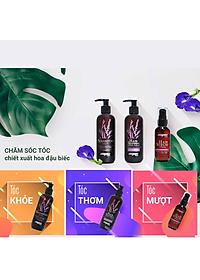 Dầu Xả Tóc Hoa Đậu Biếc Nagano Japan 250ml - Hair Treatment Nagano 250ml  - Chiết xuất từ thành phần tự nhiên giúp tóc mềm mượt bồng bềnh-4