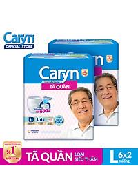 Bộ 2 Gói Tã Quần Caryn Siêu Thấm L6 TUCR00005CB