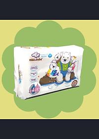 Combo 3 gói Khăn ướt làm sạch tinh khiết dành cho bé Oma&Baby với công thức Chlorhexidine Digluconate kháng khuẩn an toàn, dịu nhẹ trong khăn ( 3 gói 85 tờ ) - Combo 3 packages of  Oma&Baby premium baby wet wipes ( 85 sheets per package)-1