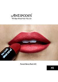 Son Môi Thiên Nhiên Màu #12 Đỏ Tươi Antipodes Lipstick Forest Berry Red 410 4g-3