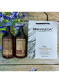 Cặp dầu gội xả Top Haneda Collagen Shampoo & Conditioner phục hồi siêu mượt tóc 500ml - Hàng chính hãng-2