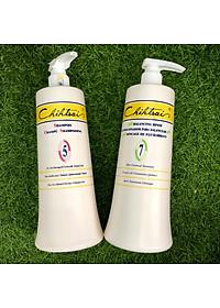 Cặp dầu gội xả siêu mượt phục hồi tóc hư tổn Chihtsai No.5 & No.7 1000ml-3