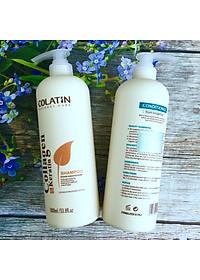 Bộ dầu gội xả dưỡng chất tơ tằm Collagen COLATIN Shampoo & Conditioner 1000ml-1