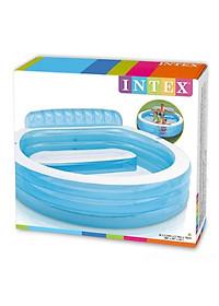 Bể bơi bơm hơi gia đình có ghế ngồi tròn xanh Intex 57190-4