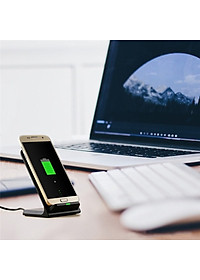 Qi Wireless Fast Charger Charging Stand Dock Pad for Samsung Galaxy S8 / S8+ / Note 8 iPhone X / 8 Plus 8-1
