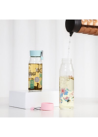Locks Lock LOCK&LOCK Glass China Wind Glass Water Cup Business Creative Student Men and women Portable Glass Tea Cup 420ML LLG682WHT-1