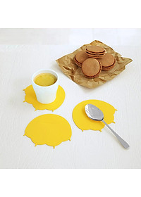 Uareliffe 3Pcs Cat Paw Cup Pad Cute Silicone Coaster Coffee Cup Mat Mug Table Pad Non-slip Heat Insulation Cup Pads Dirt-resistant Tableware Placemat Kitchen Accessories - Blue-0
