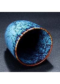 Cốc uống trà bằng sứ kiểu cổ điển phong cách Trung Quốc 200ml - Mẫu 3-2