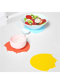 Uareliffe 3Pcs Cat Paw Cup Pad Cute Silicone Coaster Coffee Cup Mat Mug Table Pad Non-slip Heat Insulation Cup Pads Dirt-resistant Tableware Placemat Kitchen Accessories - Blue-3