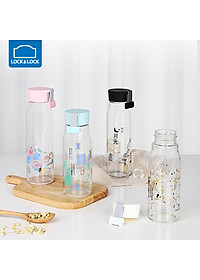 Locks Lock LOCK&LOCK Glass China Wind Glass Water Cup Business Creative Student Men and women Portable Glass Tea Cup 420ML LLG682WHT-2