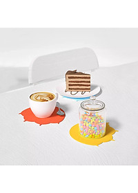 Uareliffe 3Pcs Cat Paw Cup Pad Cute Silicone Coaster Coffee Cup Mat Mug Table Pad Non-slip Heat Insulation Cup Pads Dirt-resistant Tableware Placemat Kitchen Accessories - Blue-7