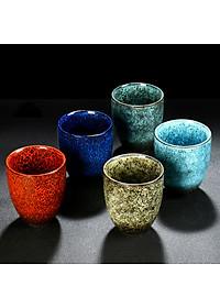 Cốc uống trà bằng sứ kiểu cổ điển phong cách Trung Quốc 200ml - Mẫu 3-3