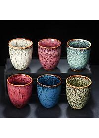Cốc uống trà bằng sứ kiểu cổ điển phong cách Trung Quốc 200ml - Mẫu 3-4