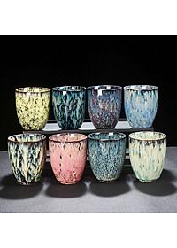 Cốc uống trà bằng sứ kiểu cổ điển phong cách Trung Quốc 200ml - Mẫu 3-6