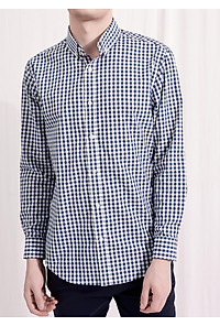 """Áo sơ mi nam The Cosmo Jeffrey shirt màu xanh dươngTC1022079BL giá chỉ còn <strong class=""""price"""">349.000đ</strong>"""