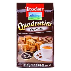 Bánh Xốp Quadratini Espresso Loacker (110g)