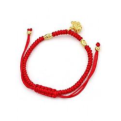 Vòng đeo tay tết dây phong thủy thỏi vàng TD7 - Vòng tay chỉ đỏ may mắn