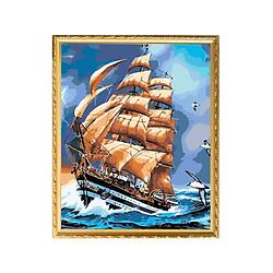 Bộ Dụng Cụ Vẽ Tranh Sơn Dầu Họa Tiết Thuyền Buồm (40*50cm)