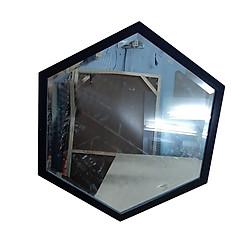 Gương lục giác khung đen