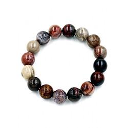 Vòng đeo tay gỗ hóa thạch - Chuỗi hạt đeo tay phong thủy may mắn