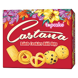 Bánh Cookies TOPCAKE CASTANA (Hộp 280g) - Hoa Xuân