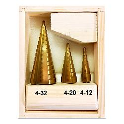 Bộ 3 khoan tháp inox