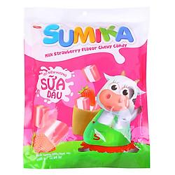 Kẹo Mềm Hương Sữa Dâu Sumika Bibica (350g)