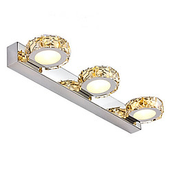 Đèn gắn tường trang trí rọi gương thiết kế hiện đại 3 hình tròn bọc pha lê( có 3 chế độ màu ánh sáng)
