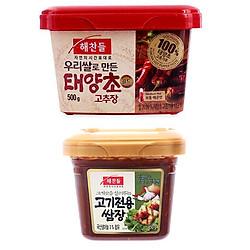 Combo Tương Chấm Thịt Nướng CJ FOODS Loại Đặc Biệt 450g Và Tương Ớt Haechandle Gochujang Hàn Quốc 500g