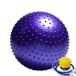 Bóng tập Yoga có gai đường kính 75cm chịu lực tốt tặng kèm bơm