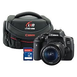 Combo Máy ảnh Canon 750D kit 18-55mm STM - Hàng Chính Hãng + Thẻ 16GB + Túi