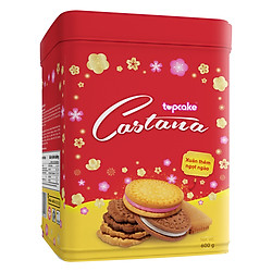 Bánh Quy Bơ TOPCAKE CASTANA (Hộp 600g) - Hoa Xuân