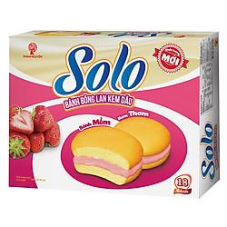 Bánh Solo Bông Lan Kem Dâu Hộp 252g